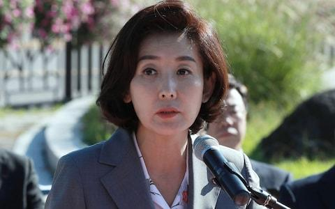 Na Kyung-won, is the latest politician to be caught up in an educational privilege scandal - Credit: AFP