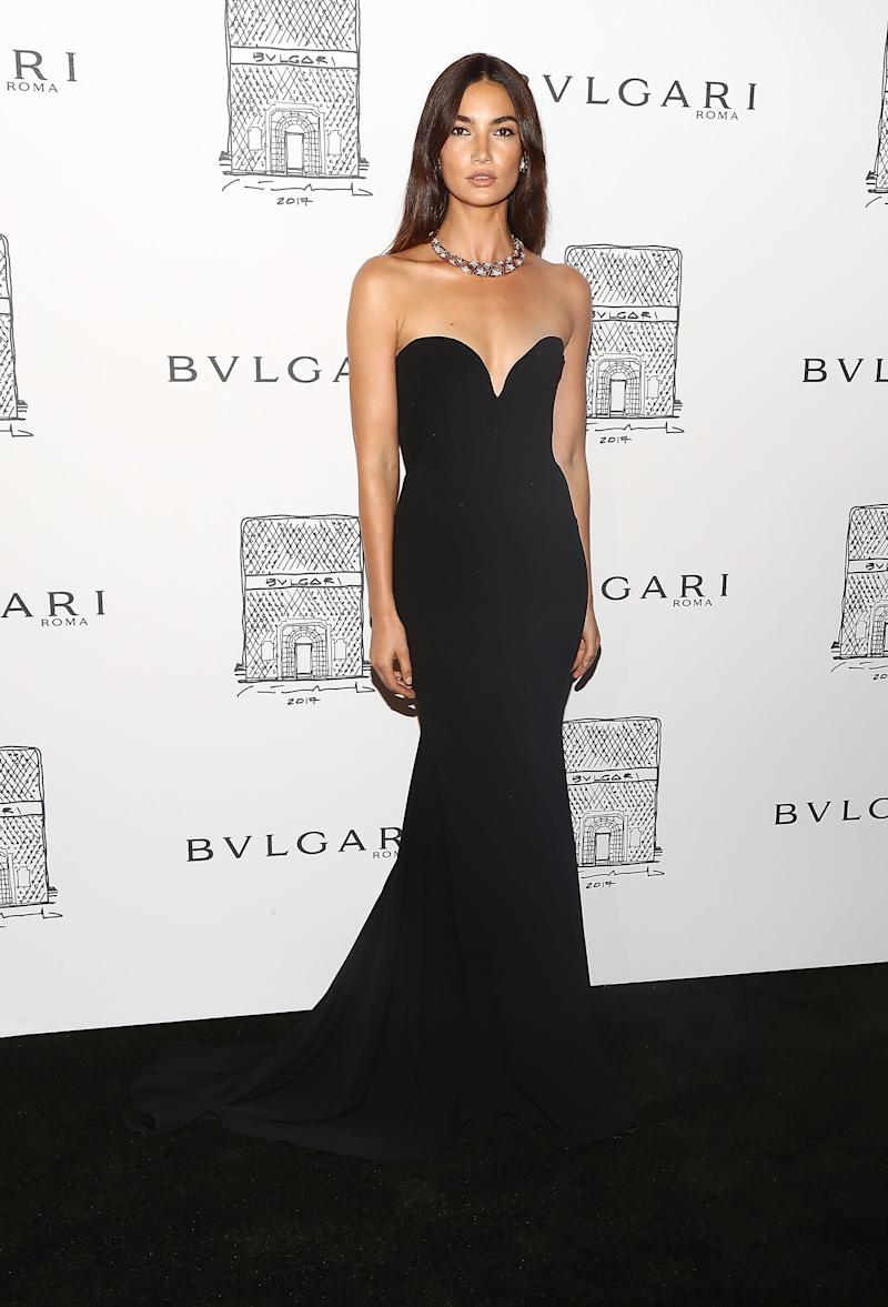 Lily Aldrige at Bulgari event