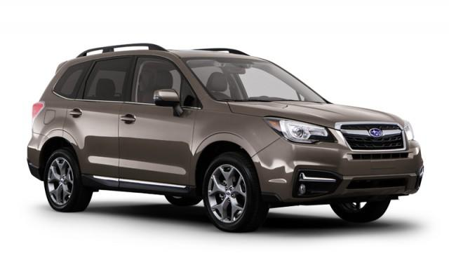 Dark brown Subaru Forester