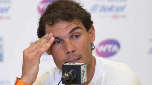 Rafael Nadal is still struggling with a hip injury, withdrawing from the Mexican Open.