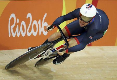 FILE PHOTO - 2016 Rio Olympics - Cycling Track - Final - Men's Omnium Flying Lap 250m Time Trial - Rio Olympic Velodrome - Rio de Janeiro, Brazil - 15/08/2016. Mark Cavendish (GBR) of Britain competes. REUTERS/Paul Hanna