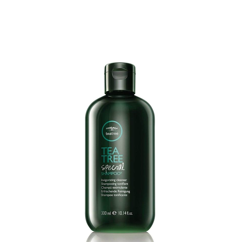 """<h2>Paul Mitchell Tea Tree Special Shampoo</h2><br>Tea tree oil is common in anti-dandruff shampoos because it's a powerful antifungal ingredient. Mixed with white ginger and lavender, this clarifying formula soothes itchiness and irritation while providing a wonderfully-relaxing scent.<br><br><strong>Paul Mitchell</strong> 'Green' Tea Tree Special Shampoo, $, available at <a href=""""https://www.lookfantastic.com/paul-mitchell-green-tea-tree-special-shampoo-300ml/10547573.html"""" rel=""""nofollow noopener"""" target=""""_blank"""" data-ylk=""""slk:LookFantastic"""" class=""""link rapid-noclick-resp"""">LookFantastic</a>"""