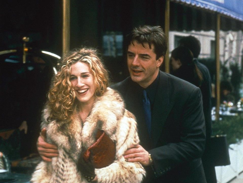 Sarah Jessica Parker and Chris North in the original series of Sex and the City (Fotos International/Shutterstock)