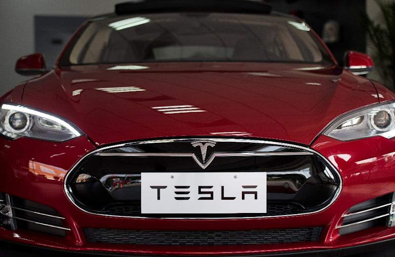 High-tech electric car maker Tesla has recruited talent to protect against cyber attacks (AFP Photo/Johannes Eisele)
