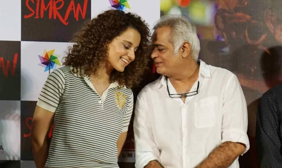 Hansal Mehta and Kangana Ranaut at the launch of Simran (Photo: HuffPost India )