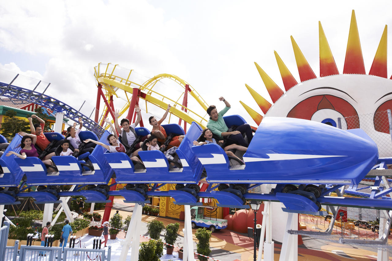 The latest attraction Polar Adventure features bobsled rides   like this brand new Arctic Blast roller, a steel power coaster,   as well as gift shops. (Photo by Ocean Park Hong Kong)