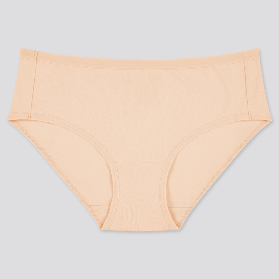 """<h3>Uniqlo Basic Hiphugger</h3><br><br><strong>The Basic Hiphugger<br></strong><br>More than one reviewer has remarked on the fact that these undies are their everyday cotton go-to. They also fare well in the wash and don't ride up throughout the day. <br><br><strong>The Hype:</strong> 4 out of 5 stars; 8 reviews on <a href=""""https://www.uniqlo.com/us/en/women-hiphugger-433433.html"""" rel=""""nofollow noopener"""" target=""""_blank"""" data-ylk=""""slk:Uniqlo.com"""" class=""""link rapid-noclick-resp"""">Uniqlo.com</a><br><br><strong>What They Are Saying:</strong> """"I will purchase again. These panties are a great fit. They did not ride up or move around. They are made of soft super lightweight material. And they washed well."""" — Uniqlo.com reviewer<br><br><strong>Uniqlo</strong> Hiphugger, $, available at <a href=""""https://go.skimresources.com/?id=30283X879131&url=https%3A%2F%2Fwww.uniqlo.com%2Fus%2Fen%2Fwomen-hiphugger-433433.html"""" rel=""""nofollow noopener"""" target=""""_blank"""" data-ylk=""""slk:Uniqlo"""" class=""""link rapid-noclick-resp"""">Uniqlo</a>"""