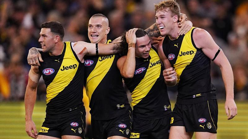 Richmond have mounted a huge comeback from 21 points down to beat Geelong by 19 points the finals