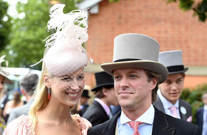 ASCOT,  UNITED KINGDOM - JUNE 20:  Lady Gabriella Windsor and husband Thomas Kingston attend Ladies Day at Royal Ascot on June 20, 2019 in Ascot, England. (Photo by Anwar Hussein/WireImage)