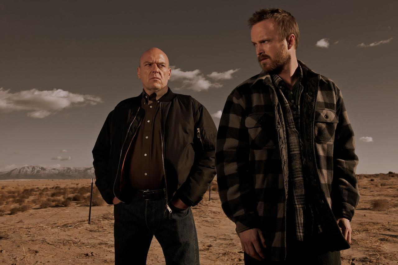 "Hank Schrader (Dean Norris) and Saul Goodman (Bob Odenkirk) in ""Breaking Bad"" Season 5."