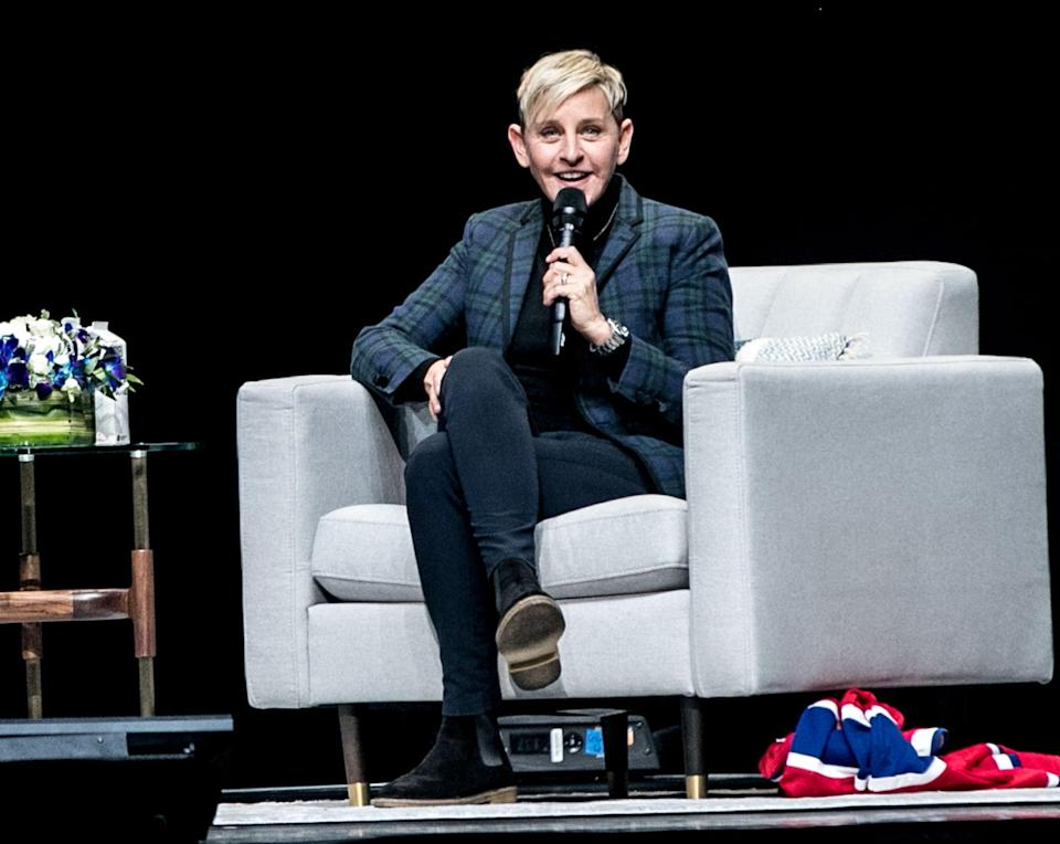 MONTREAL, QUEBEC - MARCH 01: Comedian and TV Personality Ellen DeGeneres attends a question and answer session for her Canadian fans at Centre Bell on March 01, 2019 in Montreal, Canada. (Photo by GP Images/Getty Images for TINEPUBLIC)