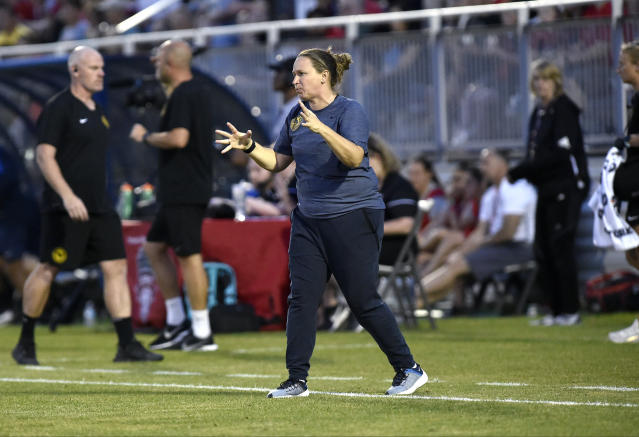 Utah Royals head coach Laura Harvey thinks the NWSL missed an opportunity to better promote itself during the World Cup. (Photo by Randy Litzinger/Icon Sportswire via Getty Images)