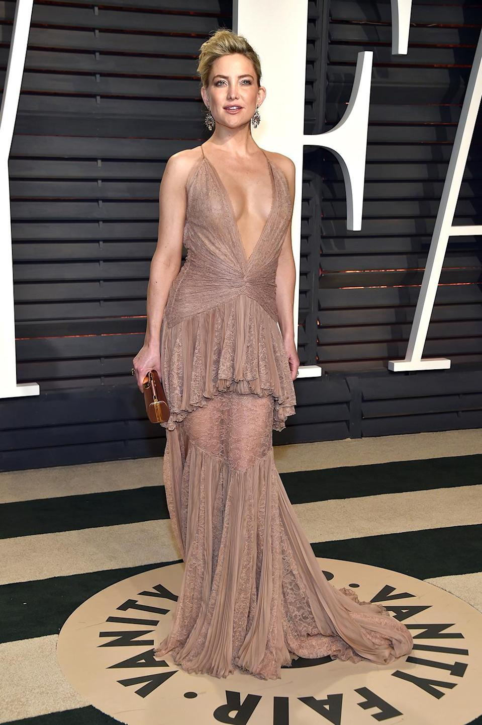 <p>Kate Hudson attends the 2017 Vanity Fair Oscar Party hosted by Graydon Carter at Wallis Annenberg Center for the Performing Arts on February 26, 2017 in Beverly Hills, California. (Photo by Pascal Le Segretain/Getty Images) </p>