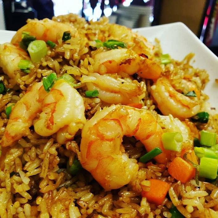 Shrimp fried rice is served at Qianlong in Doral. The Chinese restaurant was founded several years ago in Venezuela, where it was called El Palmar. Today, owner Yony Moy runs the restaurant in Doral.