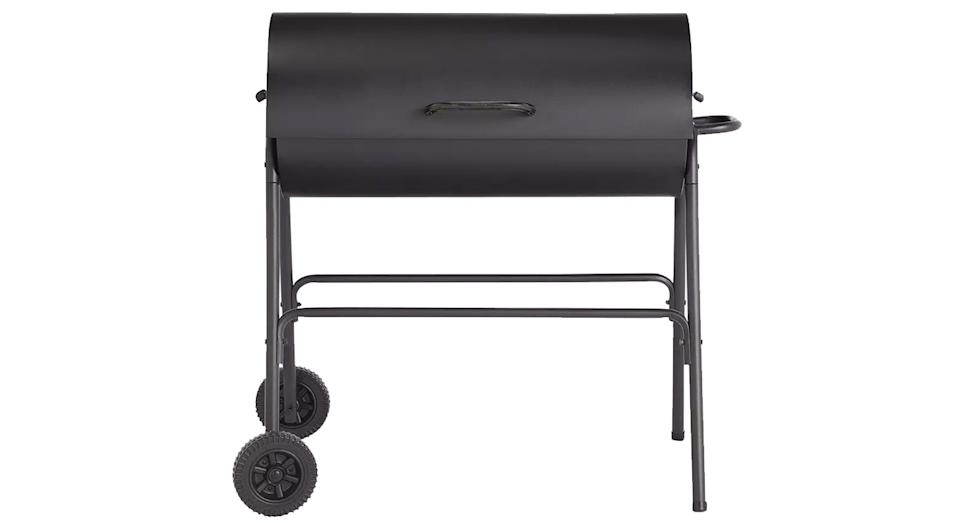 Home Charcoal Oil Drum BBQ Cover & Utensils