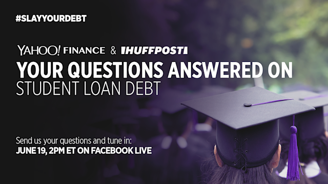 #SlayYourDebt with Yahoo Finance. We're talking refinancing, repayment plans, loan forgiveness, and so much more! Tune in at 2 PM ET and comment to ask your own question.