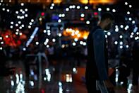 <p>2016: Tim Duncan #21 of the San Antonio Spurs on the court before the NBA game against the Phoenix Suns at Talking Stick Resort Arena on February 21, 2016 in Phoenix, Arizona. The Spurs defeated the Suns 118-111.</p>