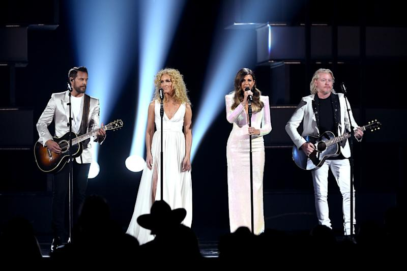 Little Big Town performing on stage.