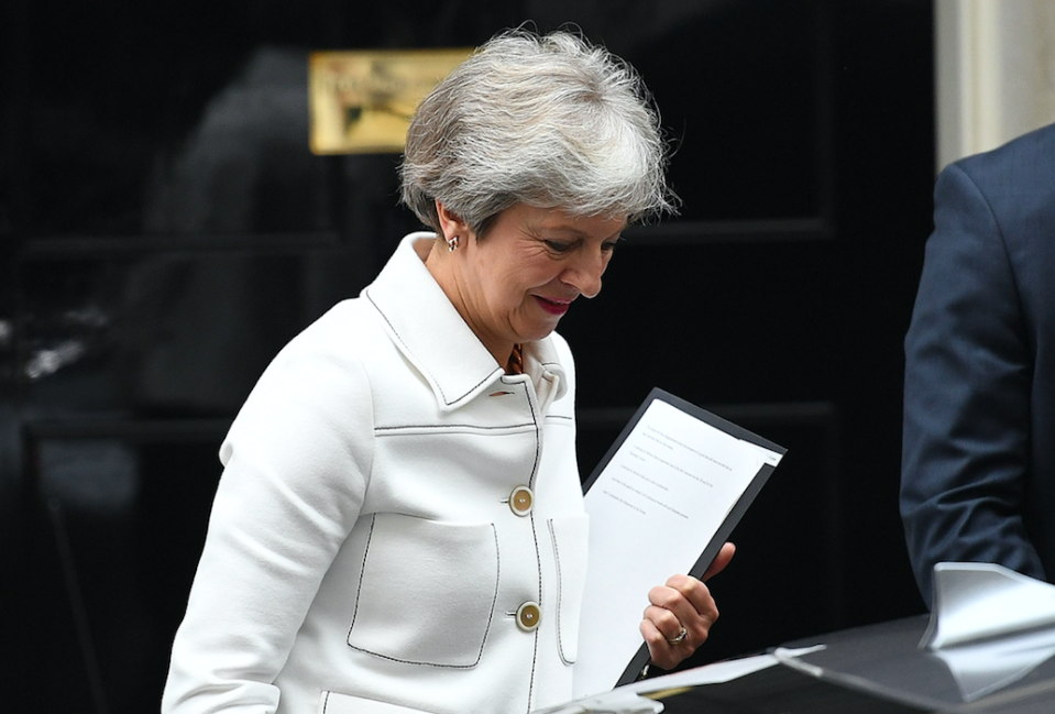<em>Theresa May is heading to Brussels as reports suggest Britain could remain in the customs union and single market for an extra year (Getty)</em>