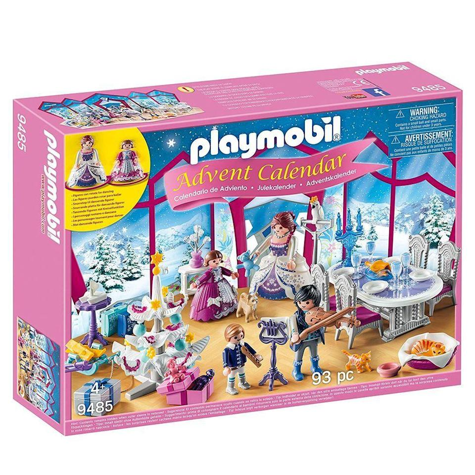 """<p><strong>Playmobil</strong></p><p>amazon.com</p><p><strong>$24.75</strong></p><p><a href=""""https://www.amazon.com/dp/B07B41JMNF?tag=syn-yahoo-20&ascsubtag=%5Bartid%7C10055.g.4911%5Bsrc%7Cyahoo-us"""" rel=""""nofollow noopener"""" target=""""_blank"""" data-ylk=""""slk:Shop Now"""" class=""""link rapid-noclick-resp"""">Shop Now</a></p><p>Before you show her <em>The Nutcracker</em>, introduce her to Clara and the rest of the gang with this Playmobil set, which comes with 93 pieces that create a Christmas ball. </p>"""