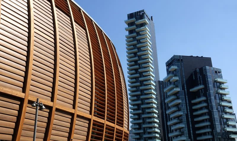 Buildings are seen in the Porta Nuova district in Milan