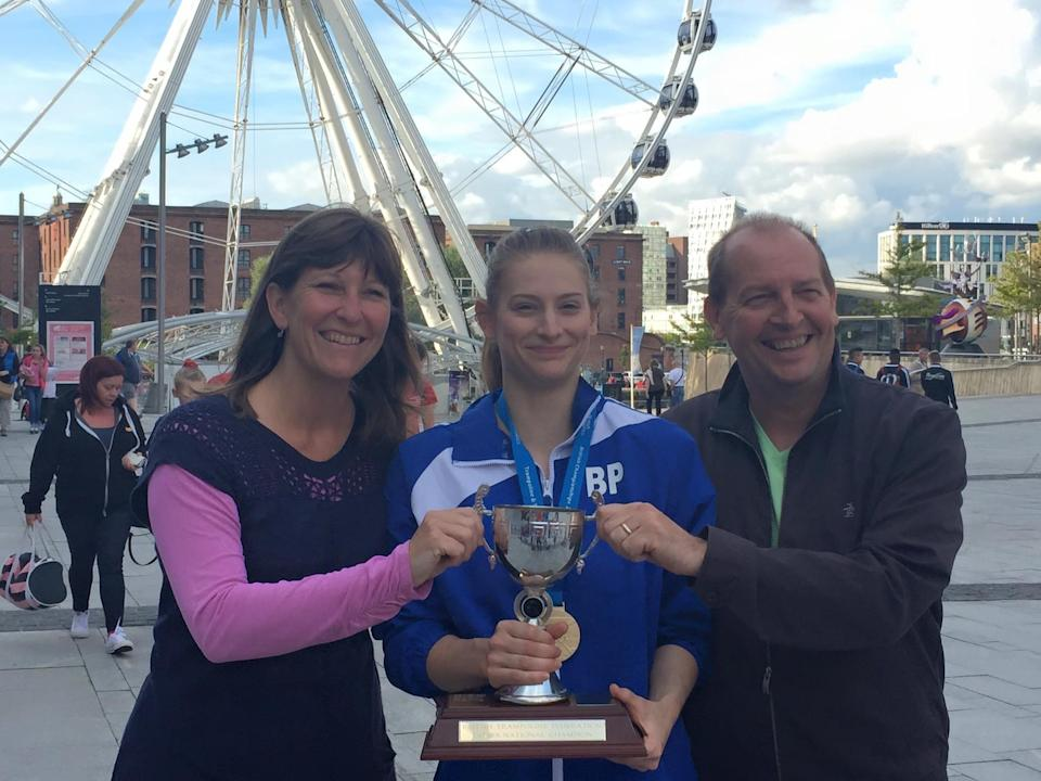 Bryony Page became British national champion in 2015