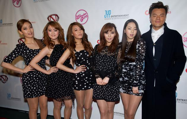 JYP with the Wondergirls (Getty Images)