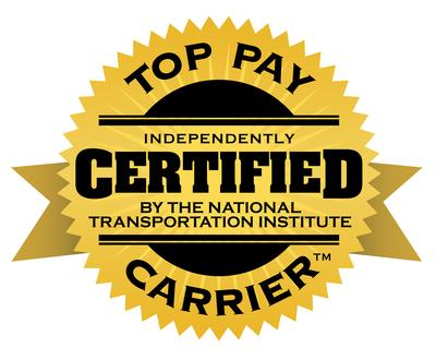 Top Pay Certified for 14 Straight Years (PRNewsfoto/Barr-Nunn Transportation)