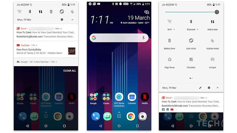 The UI is the same as we saw last year: Near-stock Android with mild HTC skinning. Image: tech2/Anirudh Regidi