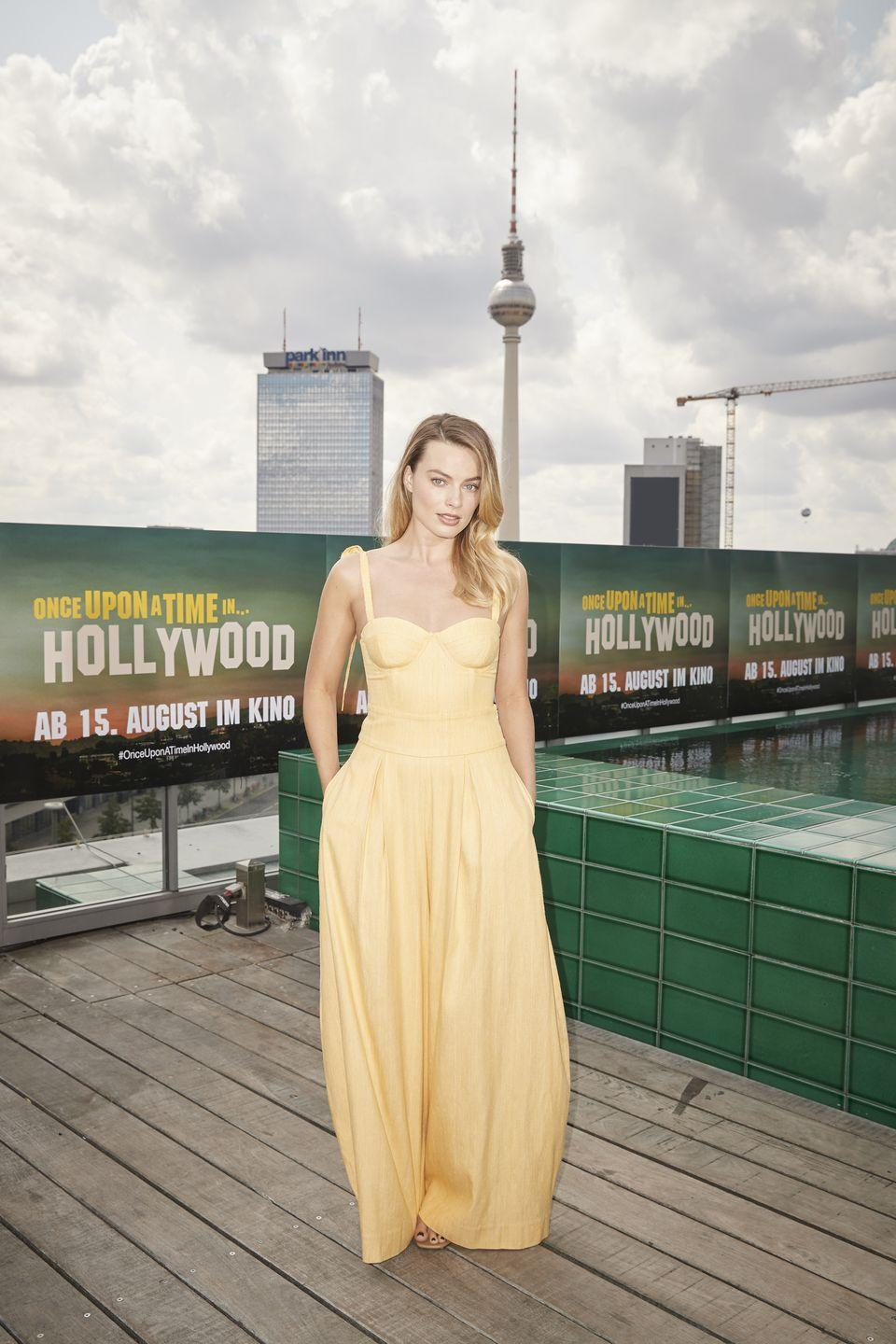 """<p>Margot Robbie attends the press junket for """"Once Upon A Time... In Hollywood"""" at Soho House on August 01, 2019 in Berlin, Germany</p>"""