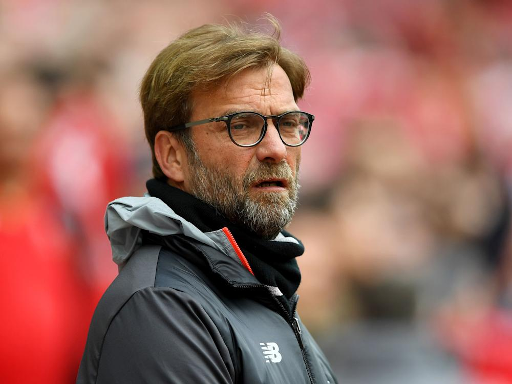 Klopp prior to kick-off at Anfield: Getty