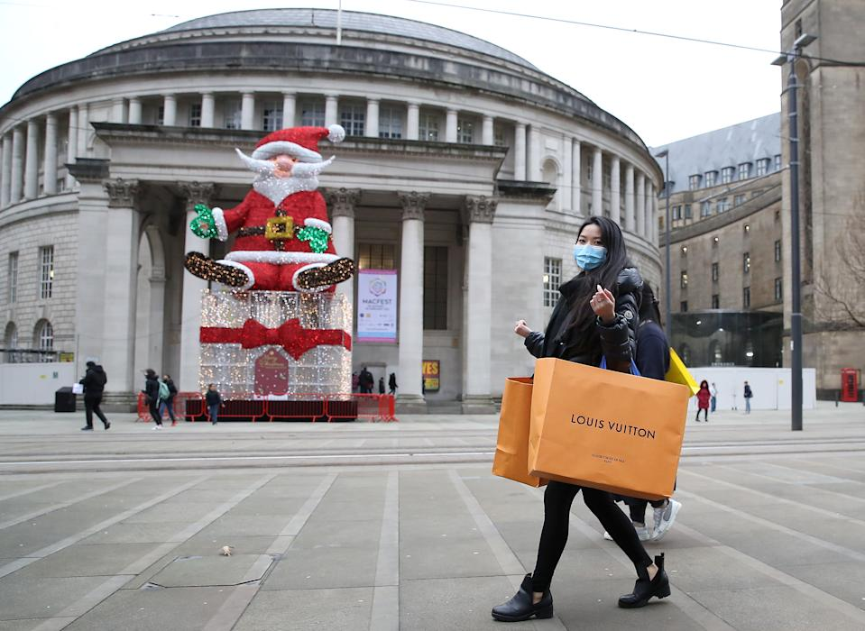 City centres have been quiet this year when they are usually busy in the run up to Christmas. (PA)