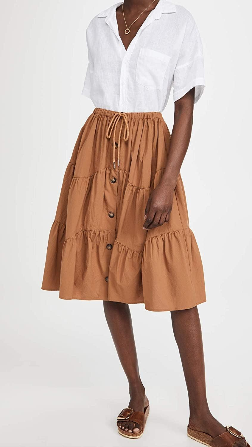 <p>You can style this <span>Meadows Thyme Skirt</span> ($178) with a crisp white tee.</p>
