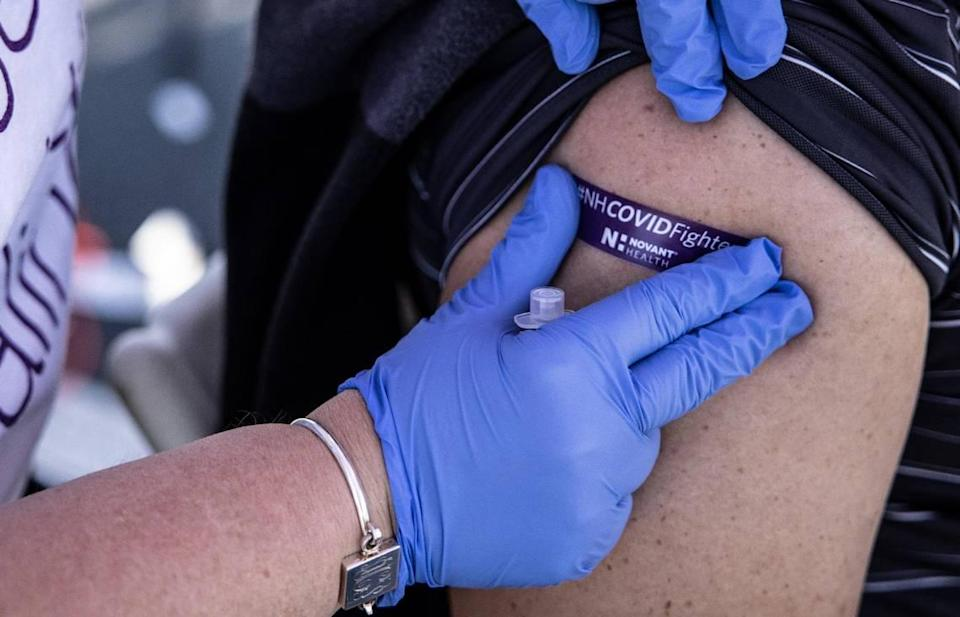 Novant Health has hosted a number of mobile vaccination clinics in under-vaccinated areas of Charlotte, including an event at Lowe's in Northlake.