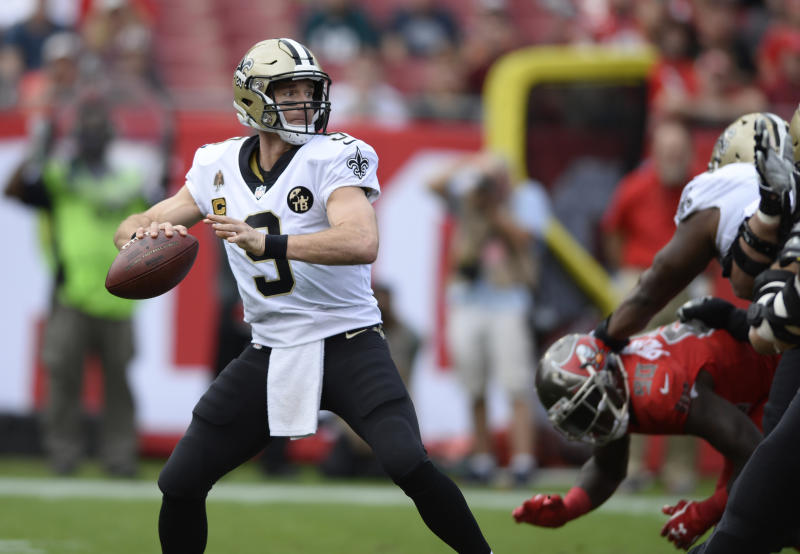 113b5ab75 Gift from Brees: Football for helping set NFL passing record
