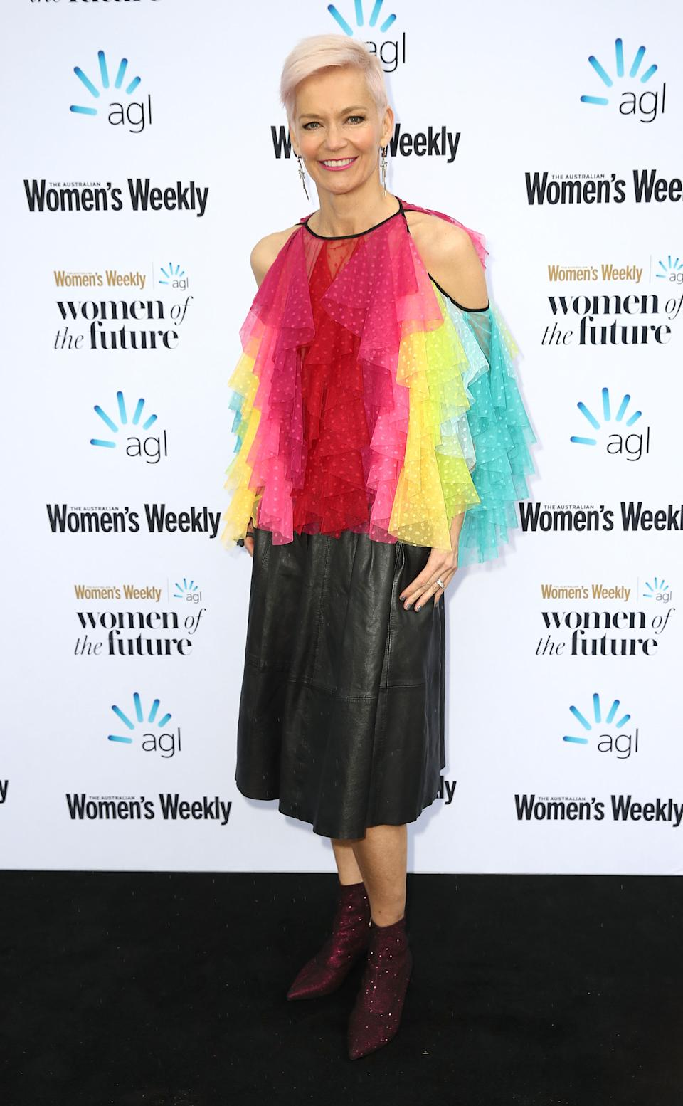 Jessica Rowe attends the Women of the FutureAwards at Quay on September 5, 2018 in Sydney, Australia.
