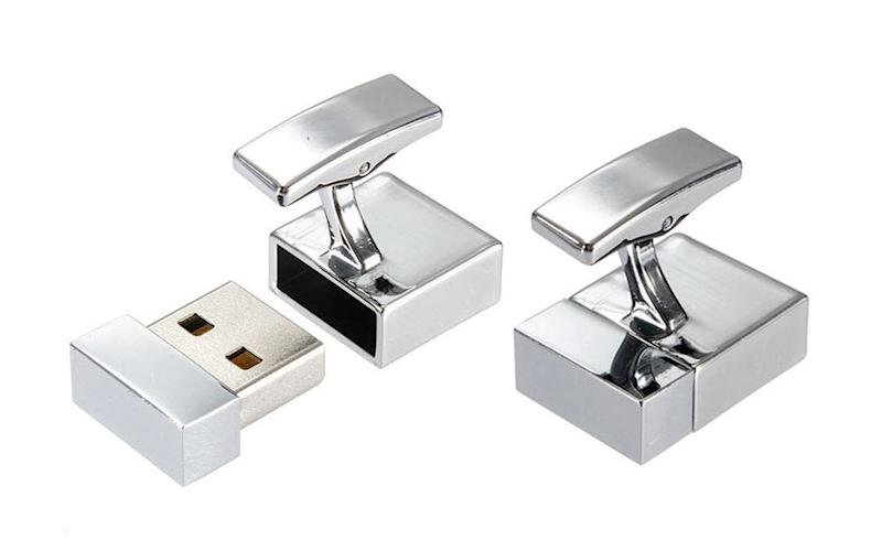 USB cufflinks were used to store terrorist material - Credit: Wales News Service