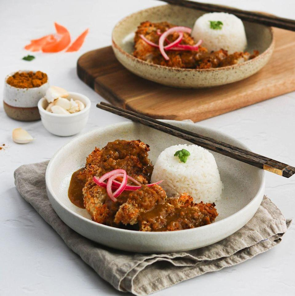 "<p>Our katsu curry sauce uses <a href=""https://www.delish.com/uk/cooking/recipes/a35064430/coconut-curry-salmon-recipe/"" rel=""nofollow noopener"" target=""_blank"" data-ylk=""slk:coconut milk"" class=""link rapid-noclick-resp"">coconut milk</a>, chicken stock, soy sauce and curry powder. A simple take on everyone's favourite restaurant or takeaway dish. </p><p>Get the <a href=""https://www.delish.com/uk/cooking/recipes/a35761653/chicken-katsu-curry/"" rel=""nofollow noopener"" target=""_blank"" data-ylk=""slk:Chicken Katsu Curry"" class=""link rapid-noclick-resp"">Chicken Katsu Curry</a> recipe.</p>"