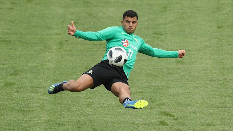 Nabbout is in contention to start up front for Australia. Pic GettyMore