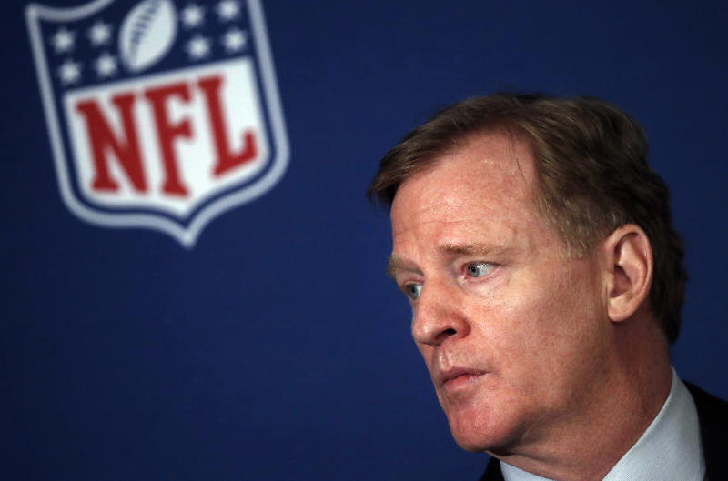 Could the NFL force out Dan Snyder as owner of the Washington franchise? The short answer is yes, but Roger Goodell would hold much of the power. (AP Photo/John Bazemore, File)