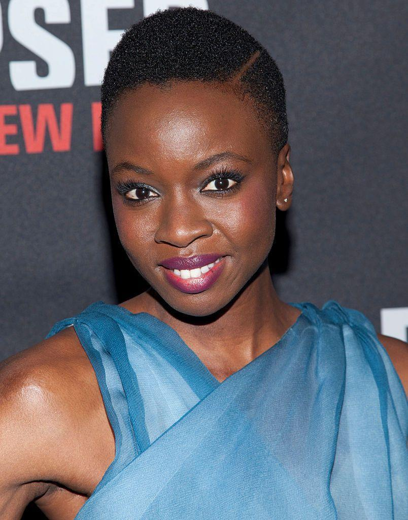 <p><strong>Danai Gurira</strong> gives short haircut dimension and a bit of edge with a defined part. </p>