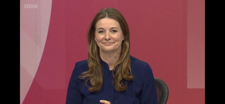 Gillian Keegan made her comments about 'taking the knee' on BBC Question Time (BBC/Independent)