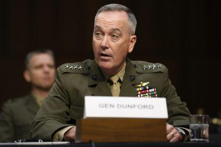 Dunford testifies on operations against the Islamic State on Capitol Hill in Washington