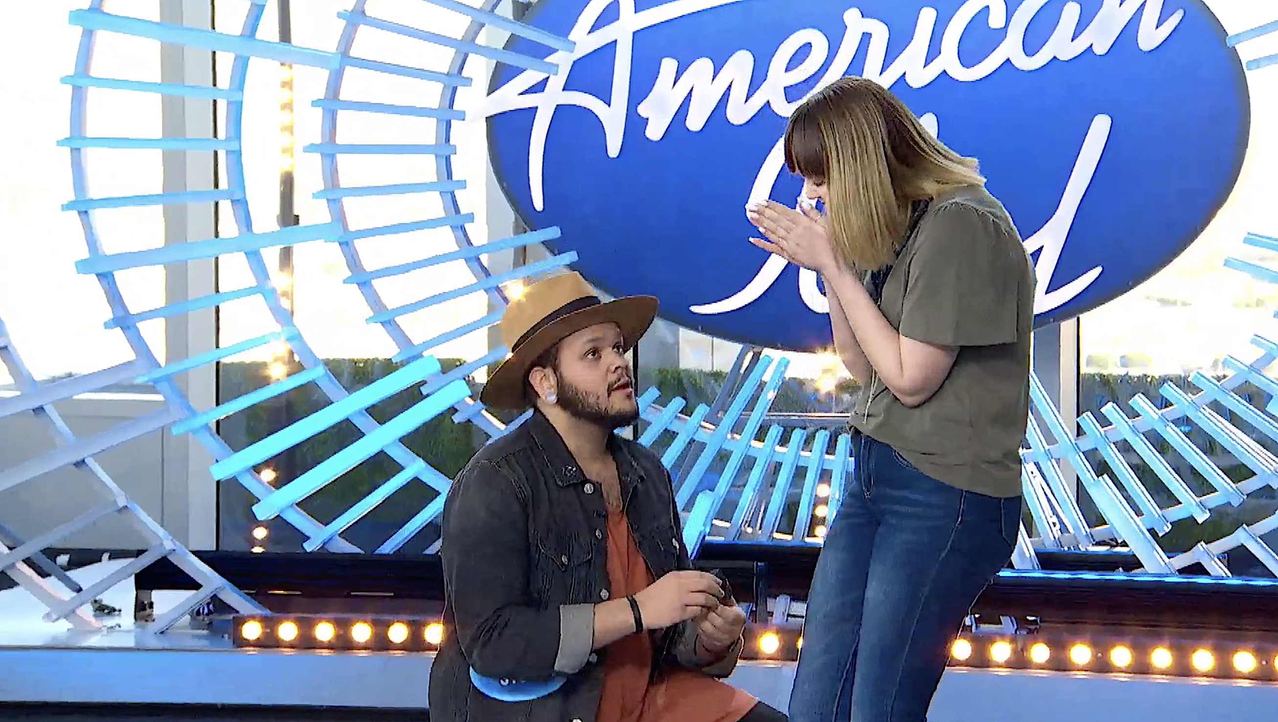 Jordan Jones pops the question on 'American Idol.' (Photo: ABC)