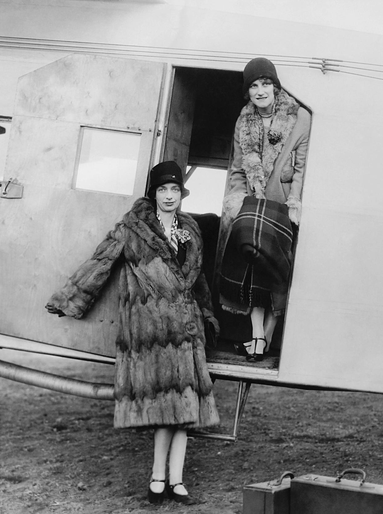 The official opening of an airline passenger service between Boston and New York took place when the first two women to make the night trip alighted from the air mail plane in New York on April 5, 1927. The fare was $25 per person.