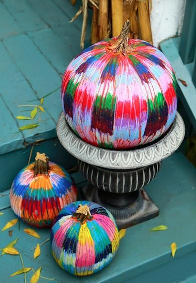 "<p><a href=""http://www.pentel.com/store/oil-pastel"">Oil pastels</a> are a great tool if you want to keep your pumpkins outside, because rainwater will roll right off! Plus, the colors look even better when smudged together.<i> (Photo: <a href=""http://www.thecraftycrow.net/2014/10/oil-pastels-on-pumpkins.html"">thecraftycrow</a>)</i></p>"
