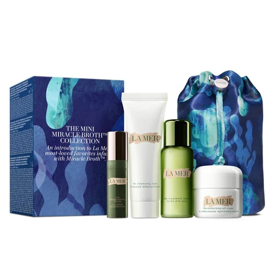 <p>Treat someone special to this luxe <span>La Mer The Mini Miracle Broth Set</span> ($160).</p>