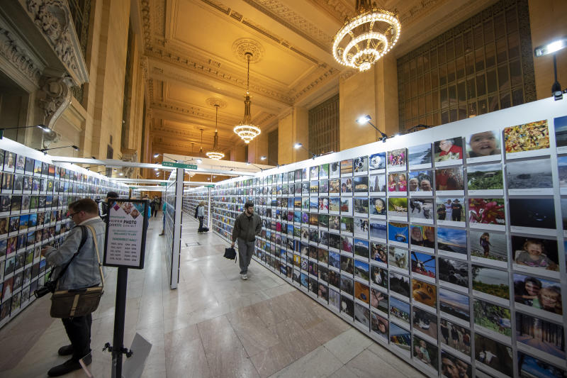 Vanderbilt Hall inside New York City's landmark Grand Central Terminal hosts the wonderful collection of photos. (Photo: Gordon Donovan/Yahoo News)