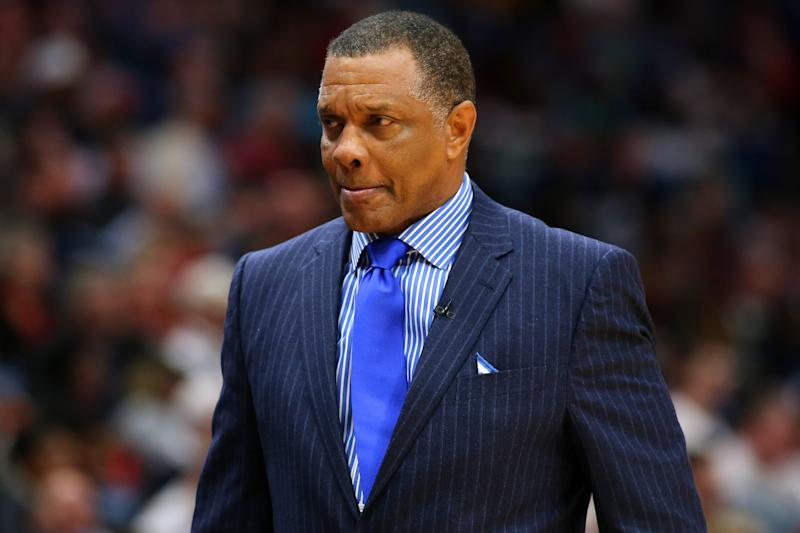 NEW ORLEANS, LOUISIANA - DECEMBER 03: Head coach Alvin Gentry of the New Orleans Pelicans reacts against the Dallas Mavericks during the second half at the Smoothie King Center on December 03, 2019 in New Orleans, Louisiana. NOTE TO USER: User expressly acknowledges and agrees that, by downloading and or using this Photograph, user is consenting to the terms and conditions of the Getty Images License Agreement. (Photo by Jonathan Bachman/Getty Images)