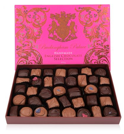"<p><span>What's the one thing that's better than chocolate? Royal chocolate. Get your hands on this <a rel=""nofollow"" href=""https://www.royalcollectionshop.co.uk/gifts/gifts-by-occasion/valentines/buckingham-palace-luxury-box-of-chocolates.html"">£24.95</a> box from Buckingham Palace. </span> </p>"